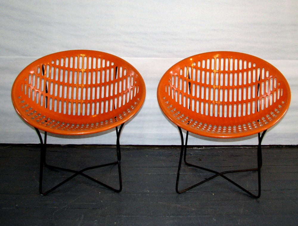 Orange Patio Chairs solair round orange chairs specializing in mid century modern