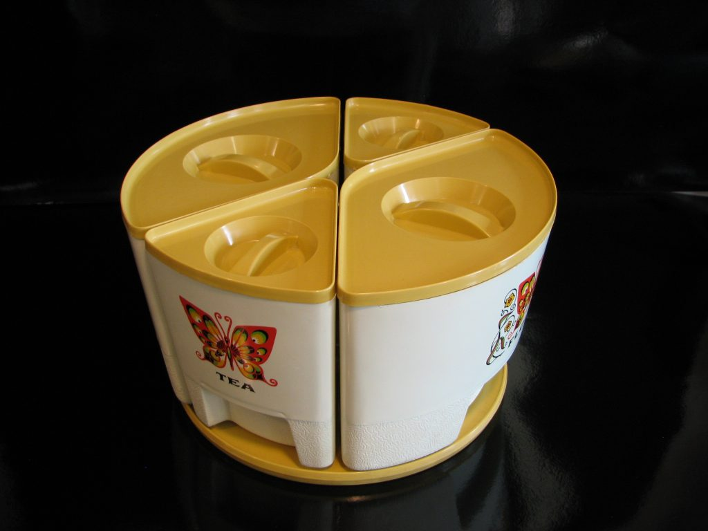 1960 s kitchen canisters specializing in mid century modern butterfly lazy susan canister set 1