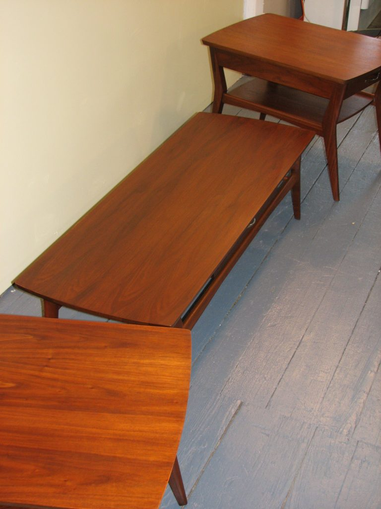 mid century modern mersman tables 3pc specializing in mid century