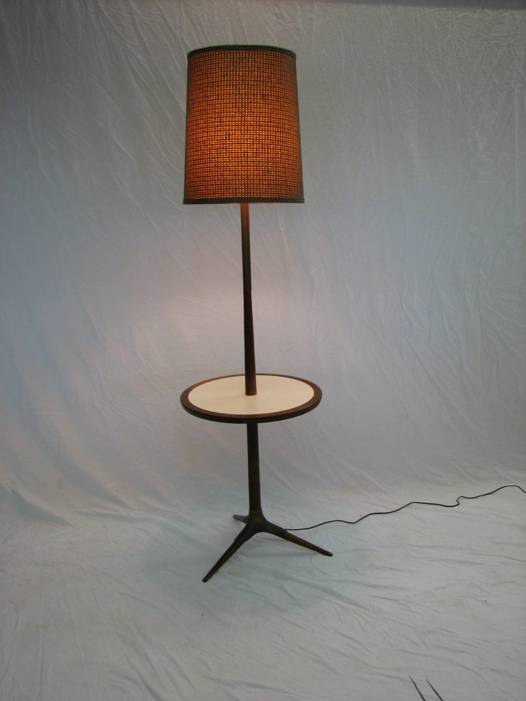 Mid Century Modern Floor Lamp Table Set