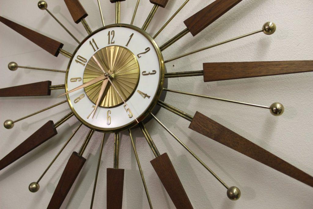 mid century modern starburst clock - new starburst clock ()