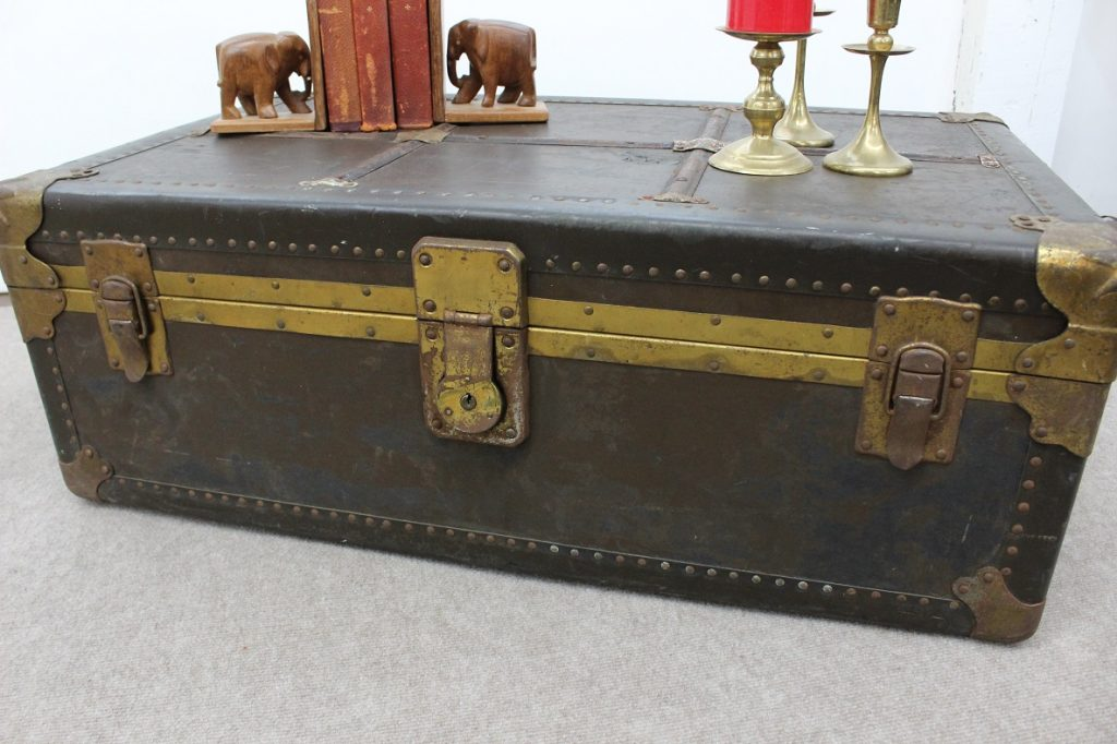 vintage trunk / luggage / coffee table specializing in mid century