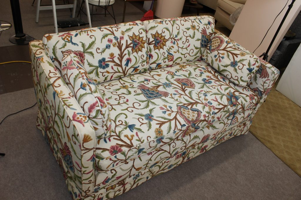 Vintage boho chic floral sofa loveseat   Specializing in Mid ...